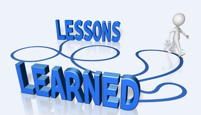 the effective way to getting better lessons learned